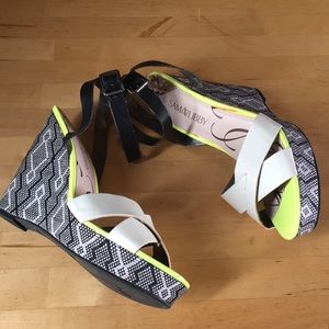 Sam & Libby Wedge Sandals Size 10